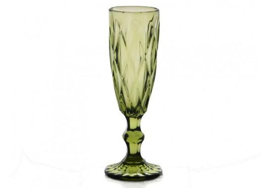 """Бокал-шампанское """"Изумруд"""" зеленый 150 мл"""