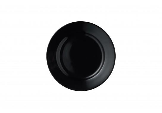 """Тарелка круглая с бортом черная глянцевая 10"""" (25,5см)"""