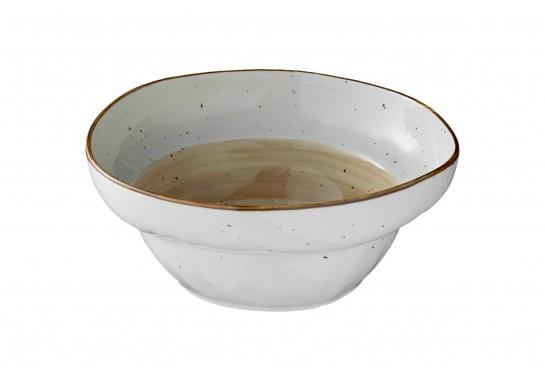 Салатник (21х h8,5см, 1500мл) светло-коричневый