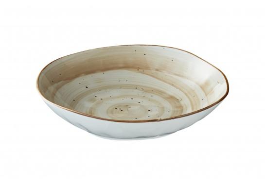 Тарелка глубокая (20,5х h3.5см, 650 мл) светло-коричневая