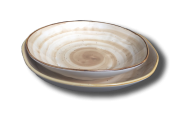 Тарелка глубокая (23х h3.5см, 850 мл) светло-коричневая