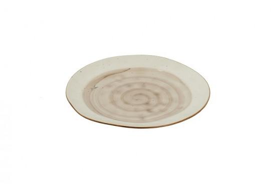 Тарелка круглая (25см) светло-серая