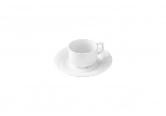 Чашка кофейная 1в1 с блюдцем 80 мл