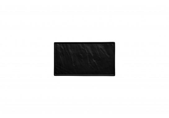 """Тарелка прямоугольная черная матовая 14"""" (34*19,5см)"""
