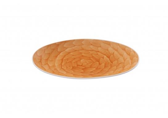 """Тарелка овальная без борта 9,75"""" (25*16 см) caramel 60(6)шт F1119-9,75-D-2 (акварель)"""
