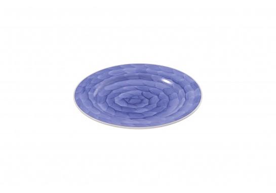 """Тарелка круглая 12"""" (30,5см) lilac с бортом 12(3)шт F0087-12-D-5 (акварель)"""