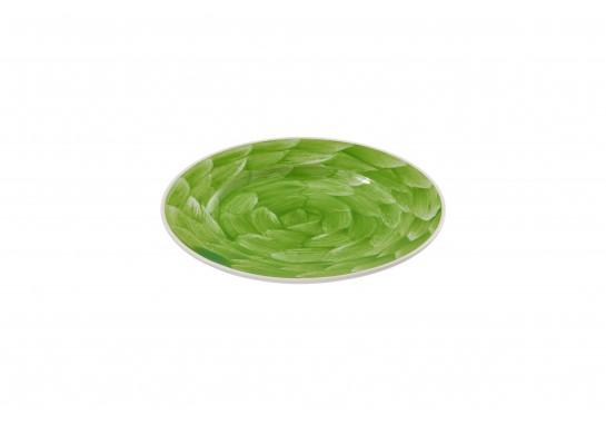 """Тарелка круглая 9"""" (23см) lime с бортом 30(6)шт  F0087-9-D-7 (акварель)"""