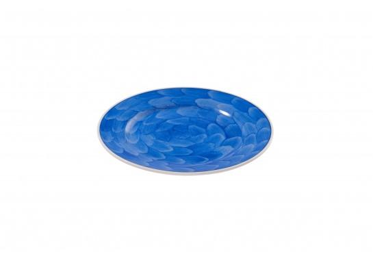 """Тарелка круглая 11"""" (28см) cobalt с бортом 20(4)шт F0087-11-D-4 (акварель)"""