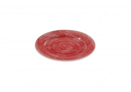 """Тарелка круглая 12"""" (30,5см) red с бортом 12(3)шт F0087-12-D-6 (акварель)"""