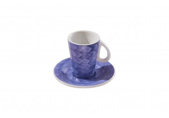 Чашка с блюдцем (150мл) lilac 72(6)шт F2775+F2776-D-5 (акварель)