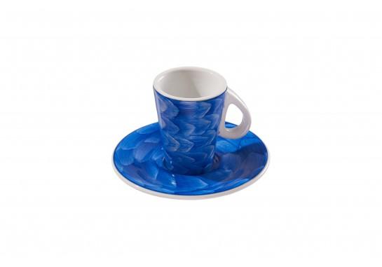 Чашка с блюдцем (150мл) cobalt 72(6)шт F2775+F2776-D-4 (акварель)