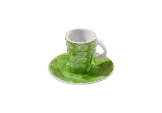 Чашка с блюдцем (150мл) lime 72(6)шт F2775+F2776-D-7 (акварель)