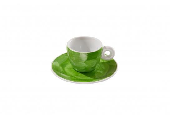 """Чашка с блюдцем """"Illy"""" lime (60мл) 120(12)шт F2530+F2531-D-7 (акварель)"""