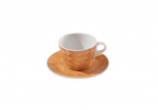 "Чашка с блюдцем ""Lavazza"" (360мл) caramel 60(6)шт F2437+F2438-D-2 (акварель)"