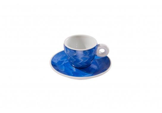"""Чашка с блюдцем """"Illy"""" cobalt (60мл) 120(12)шт F2530+F2531-D-4 (акварель)"""