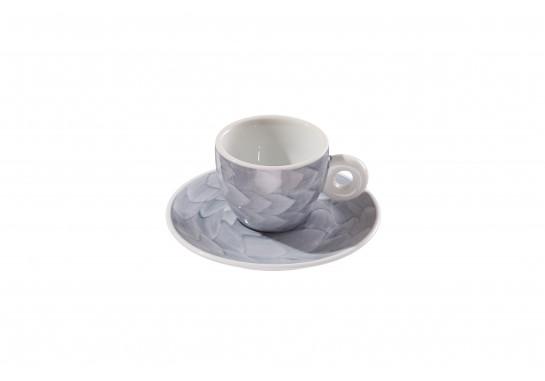 "Чашка с блюдцем ""Illy"" grey (60мл) 120(12)шт F2530+F2531-D-3 (акварель)"