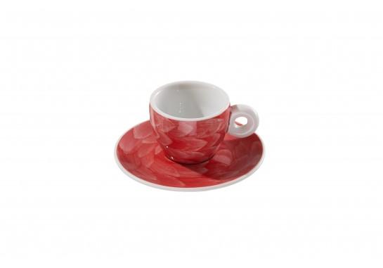"Чашка с блюдцем ""Illy"" red (60мл) 120(12)шт F2530+F2531-D-6 (акварель)"