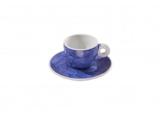 """Чашка с блюдцем """"Illy"""" lilac (60мл) 120(12)шт F2530+F2531-D-5 (акварель)"""