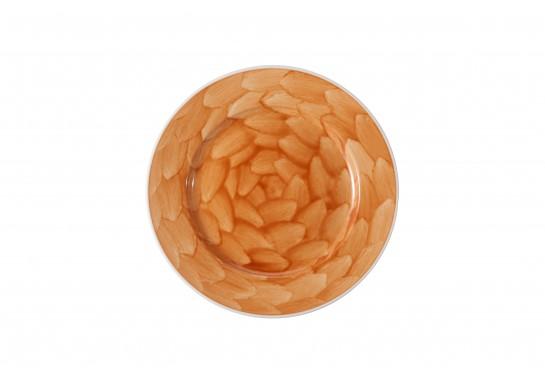 """Тарелка круглая 8"""" (20,3см) caramel с бортом  36(6)шт F0087-8-D-2 (акварель)"""