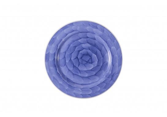 """Тарелка круглая 9"""" (23см) lilac с бортом 30(6)шт F0087-9-D-5 (акварель)"""