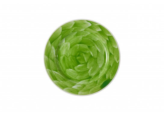 """Тарелка круглая 12"""" (30,5см) lime с бортом 12(3)шт F0087-12-D-7 (акварель)"""