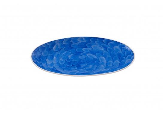 """Тарелка овальная без борта 9,75"""" (25*16 см) cobalt 60(6)шт F1119-9,75-D-4(акварель)"""