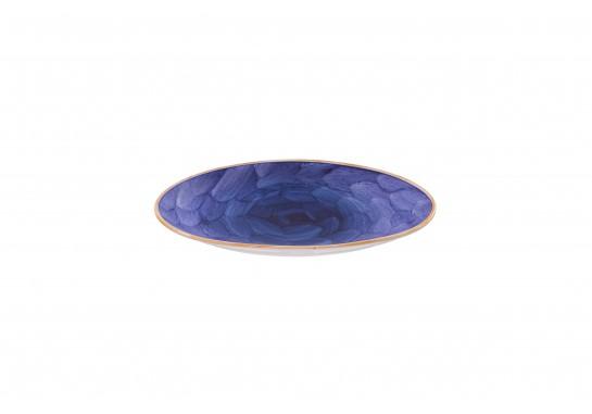 """Тарелка овальная без борта 9,75"""" (25*16 см) lilac 60(6)шт F1119-9,75-D-5 (акварель)"""
