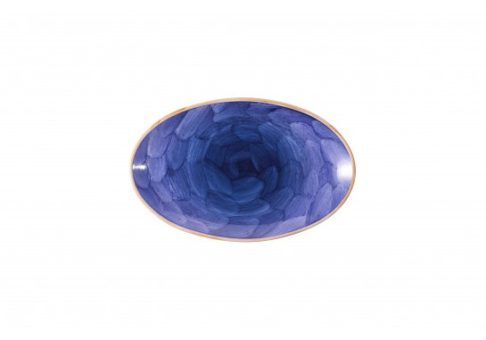 """Тарелка овальная без борта 13,75""""(35.5*22.5см) lilac 20(4)шт F1119-13,75-D-5 (акварель)"""