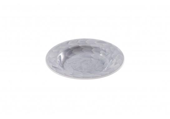 "Тарелка суповая глубокая 8"" (20см, 200мл) grey 36(6)шт F2075-8-D-3 (акварель)"