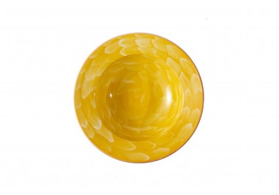 """Тарелка суповая глубокая 8"""" (20см, 200мл) yellow 36(6)шт F2075-8-D-8 (акварель)"""