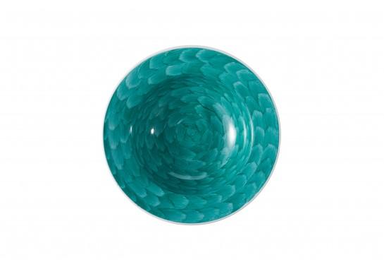"Тарелка суповая глубокая 8"" (20см, 200мл) turquoise 36(6)шт F2075-8-D-1 (акварель)"