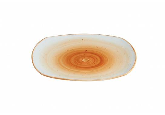 "Тарелка квадратная 10,25"" (25,5см) caramel 18(3)шт F0009-10,25-A-2 (волна)"