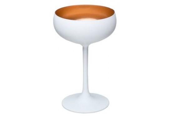Olympic Бокал для шампанского матовый-белый/бронзовый 230мл